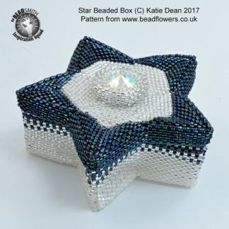 Beaded Star Box Pattern, Katie Dean, Beadflowers