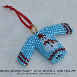 Beaded Christmas Jumper Pattern, Katie Dean, Beadflowers