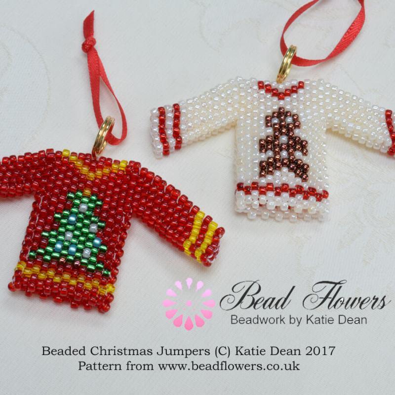 Beaded Christmas Jumper Tree Decoration, Katie Dean, Beadflowers