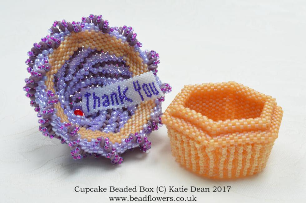 Finishing Beading Threads, Charity Cupcake Fundraiser, Katie Dean, Beadflowers
