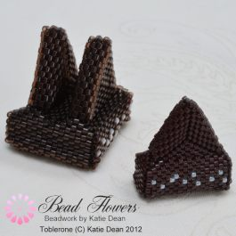 Beading Pattern Instructions for Toblerone, Katie Dean, Beadflowers