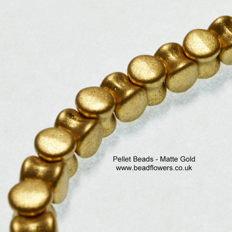 Pellet Beads, UK, 30 per strand, Katie Dean, Beadflowers