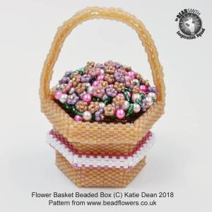 Flower Basket Beaded Box, Katie Dean, Beadflowers