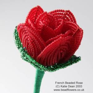 French Beaded Rose Kit, Katie Dean, Beadflowers