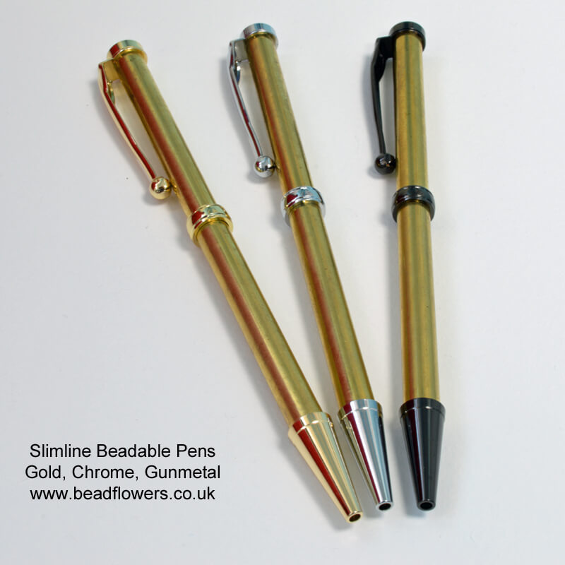 Slimline Beadable Pens, available from beadflowers.co.uk