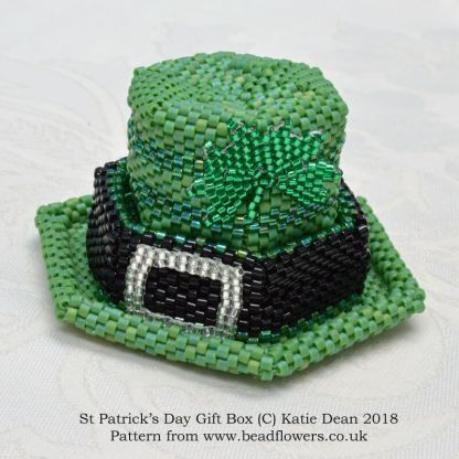 Celebrating Saints Days, St Patricks Day Gift Box Beading Kit or Pattern, Katie Dean, Beadflowers