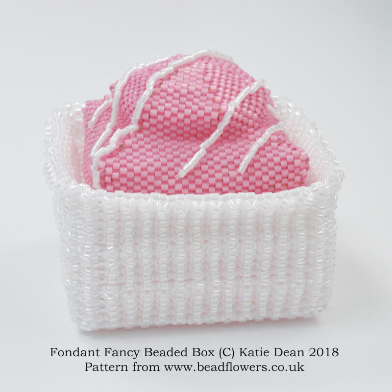 Fondant Fancy Beaded Box Kit and Pattern, Katie Dean, Beadflowers