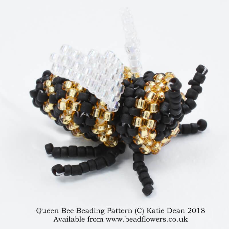 dbd01a1cc Queen Bee Beading Pattern ~ Katie Dean ~ Beadflowers