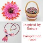 Nature beading, inspired, beading competition, Katie Dean, Beadflowers