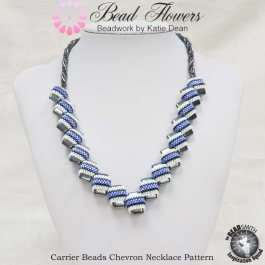 Carrier beads chevron necklace pattern, Katie Dean, Beadflowers