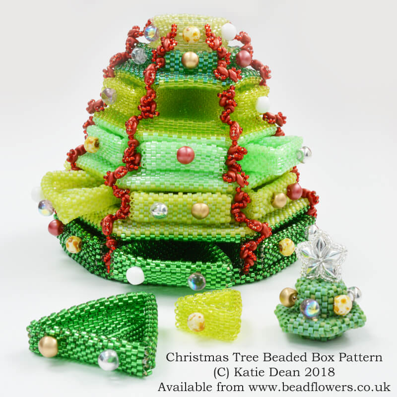 Christmas tree beaded box, Katie Dean, Beadflowers