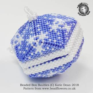 Beaded Box Baubles Pattern, Katie Dean, Beadflowers
