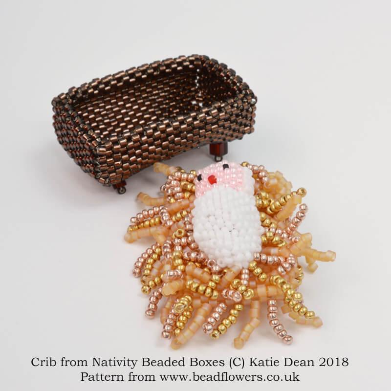 Beaded Nativity beaded box pattern, Katie Dean, Beadflowers