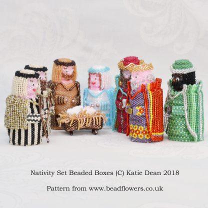 Beaded Nativity Pattern, Beaded Boxes, Katie Dean, Beadflowers
