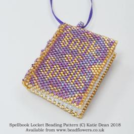 Spellbook locket beading pattern, Katie Dean, Beadflowers