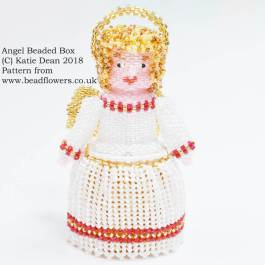 Angel Beaded Box Pattern, Katie Dean, Beadflowers