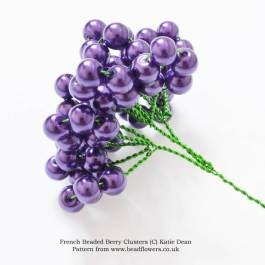 French beaded berries pattern, Katie Dean, Beadflowers