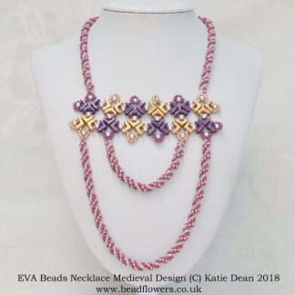 Eva beads necklace pattern: Medieval, Katie Dean, Beadflowers
