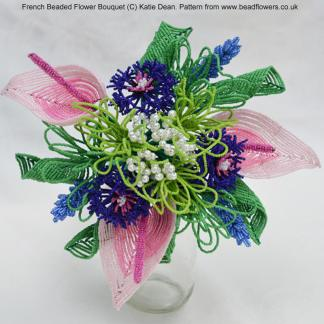 How to design and assemble French beaded flower bouquets, Katie Dean, Beadflowers