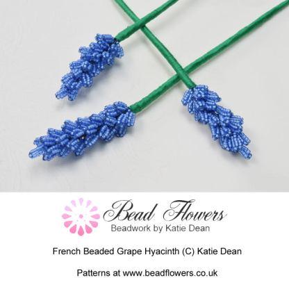 French beaded grape hyacinth, Katie Dean, beadflowers