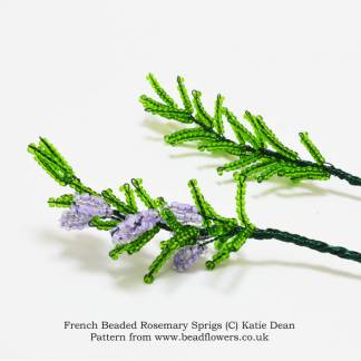 French beaded Rosemary pattern, Katie Dean, Beadflowers