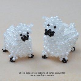 Sheep beaded box kit and pattern, Katie Dean, Beadflowers