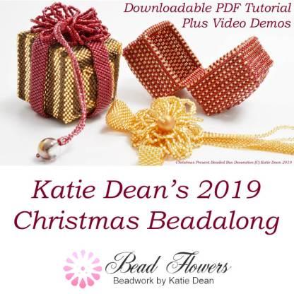 Katie Dean Christmas Beadalong 2019, Christmas Ornaments Beadalong, Katie Dean, Beadflowers, beading in 2019