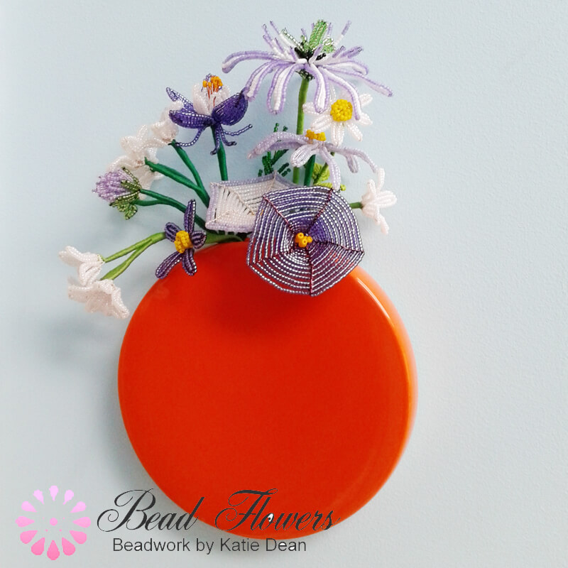 French Beaded Flower Arrangements, Katie Dean, Beadflowers