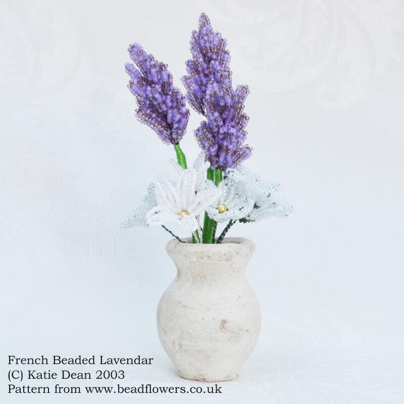 French beaded lavender pattern, by Katie Dean, Beadflowers
