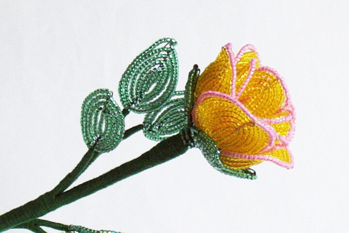French Beaded Flower Colouring, Katie Dean, Beadflowers