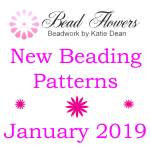 January 2019 beading patterns, Katie Dean, Beadflowers