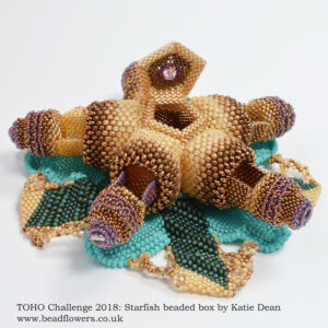 TOHO Challenge 2019, starfish beaded box, Katie Dean