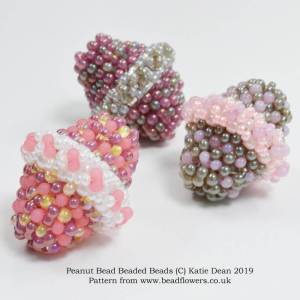 Peanut beads beaded bead pattern, Katie Dean, Beadflowers