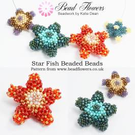 Star Fish beaded bead pattern, Katie Dean, Beadflowers