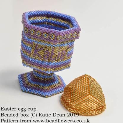 Easter egg cup beaded box pattern, Katie Dean, Beadflowers