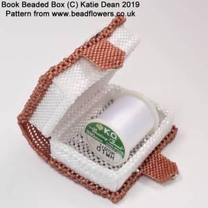 Book beaded box pattern, Katie Dean, Beadflowers