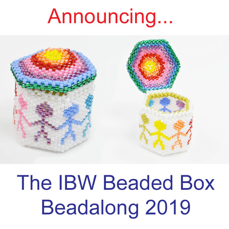 IBW Beaded Box Beadalong Project, Katie Dean, Beadflowers, beading in 2019