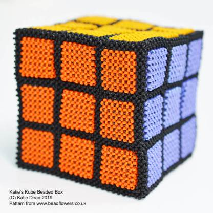 Katies Kube Beaded Box Tutorial, Katie Dean, Beadflowers