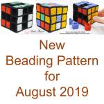 New beading pattern for August 2019, Katie Dean, Beadflowers, Katie's Kube Beaded Box