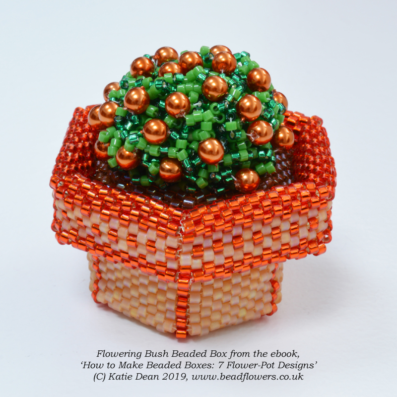 How to Make Beaded Boxes: 7 Flower Pot Designs, ebook by Katie Dean, Beadflowers
