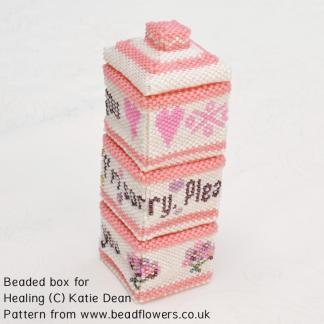 Beaded Box for healing tutorial, Katie Dean, Beadflowers