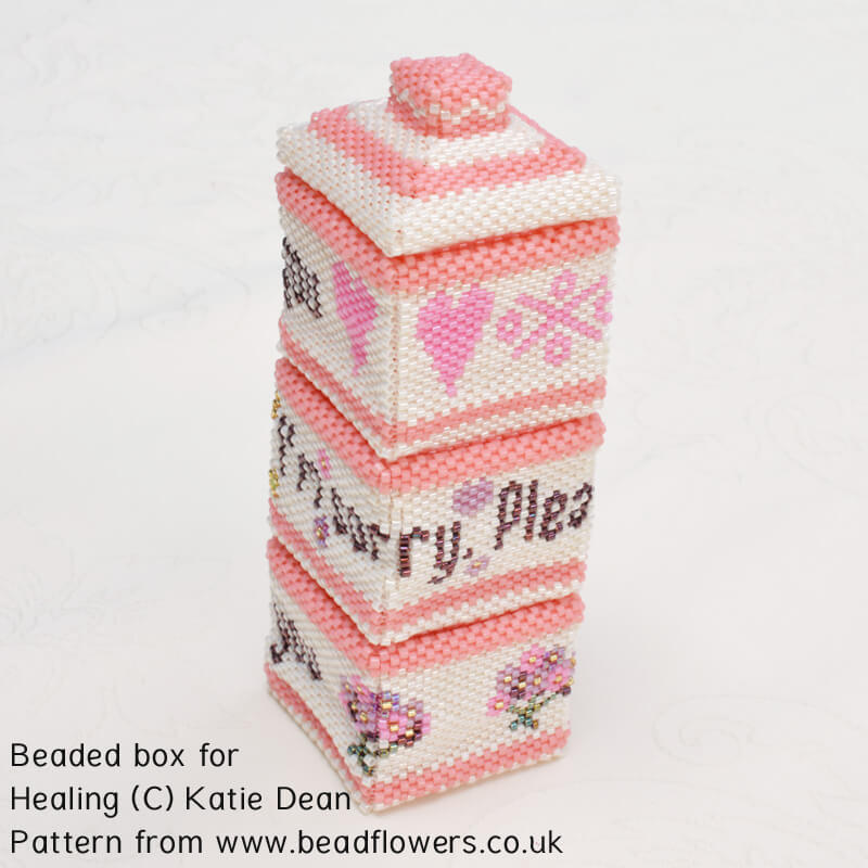 Beaded Box for healing, Katie Dean, Beadflowers