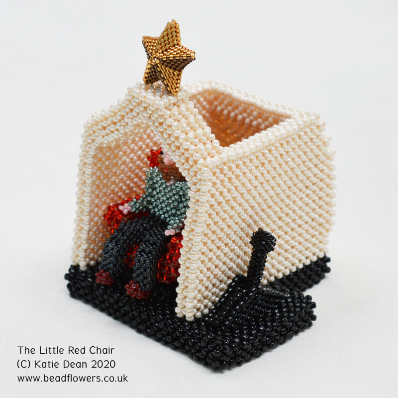 The Little Red Chair studio set, Katie Dean, Beadflowers