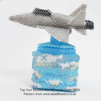 Top Gun Beaded Box Pattern, Katie Dean, Beadflowers