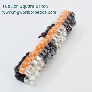 Tubular Square Stitch free tutorial, Katie Dean, Beadflowers