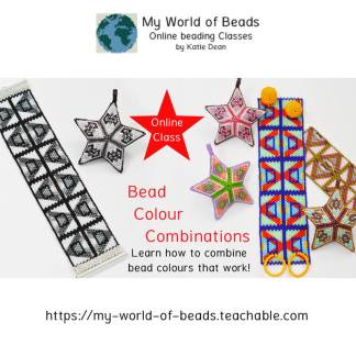 Bead color combinations: online beading class with Katie Dean