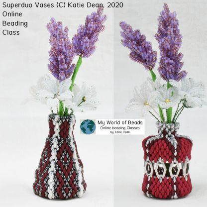 Superduo Vase Online Beading Class by Katie Dean