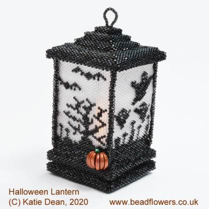 Halloween Lantern Beading Pattern by Katie Dean, Beadflowers