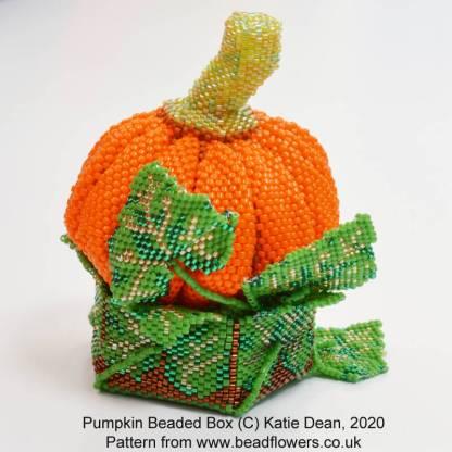 Pumpkin beaded box pattern, Katie Dean, Beadflowers