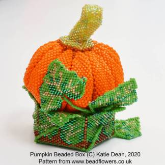 Pumpkin beaded box pattern, Katie Dean, Beadflowers